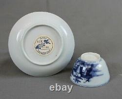 Nanking Naufrage Chinois Cargo Pagode Riverscape Tea Bowl Et Soucoupe C1750