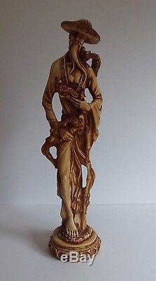 Paire De Figurines Vintage En Résine De Chine Orientale Pour Hommes Et Femmes