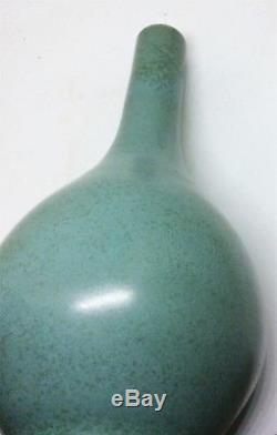 Paire De Vases Anciens En Porcelaine De Chine Ming, Glacés Bleus, Vase Dan Jiajing Marqué
