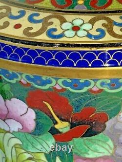 Paire Exquise De Vases Chinois Assortis De Cloisonne De Tête D'ail
