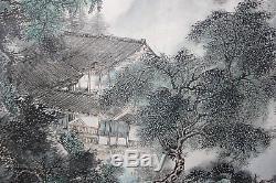 Peinture Chinoise À L'encre Et À L'aquarelle Sur Papier De Riz En Soie - Signée