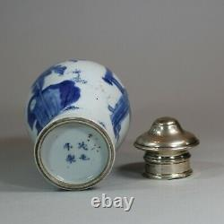 Petit Bleu Chinois Et Pot Blanc, Kangxi (1662-1722)
