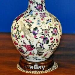 Petite Paire De 22 Chinois Vase En Porcelaine Lampes-asian-oriental-style Cloisonné