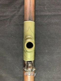 Pipe Chinoise Antique De Bambou Avec Le Bol De Yixhing Et La Selle De Paktong