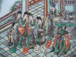 Plaque Antique En Porcelaine De Chine Famille Verte 19ème 10.5
