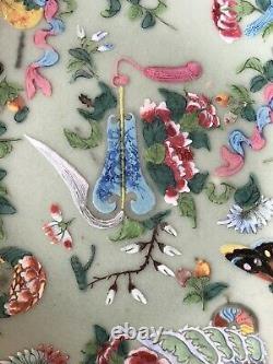 Plaque De Porcelaine Chinoise Antique Celadon, Ca 19c