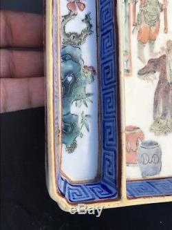 Plateau À Figurines En Porcelaine Famille Rose Du Xixe Siècle À L'export, Chine