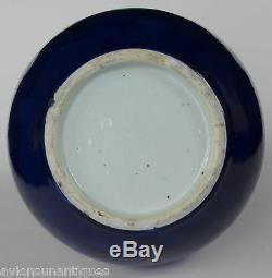 Porcelaine Chinoise Sacrificiel Bleu Glacé Vase Dynastie Qing 18 / 19ème Siècle
