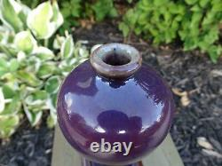 Porcelaine Meiping Vase Chinois Flambe Glacé Très Fin Petite Antique 18 Qing