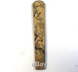 Porte-porte-ventilateur En Soie Dynasty Qin Chinoise Antique Broderie B