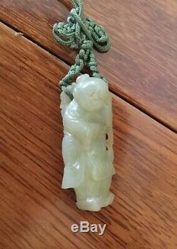Qing Dynastie Chinoise Néphrite Pendentif De Jade 4.4