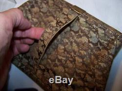Rare Antique Chinois Chinois Jade Néphrite Bourse Tissé Avec Boucle De Crochet De Ceinture