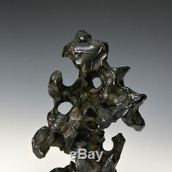 Rare Antique Chinoise Qing Tang Ying Shi Mk Lingbi Pierre Porcelaine Scholar Rock