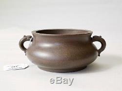 Rare Brûleur D'encens Chinois Yixing (encensoir) Marque De Xuande, République (provenance)