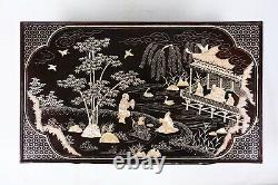 Rare Chinese Antique Lacquer Mother Of Pearl Inlaid Kang Table, Dynastie Qing (1)