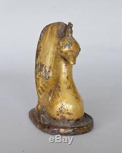 Rare Figure Chinoise Représentant Un Oiseau Assis, Dynastie Des Han (206bc 220ad)