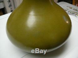 Rare Porcelaine Chinoise Vase Bouteille Émail Teadust Marque Qianlong Et La Période 18thc