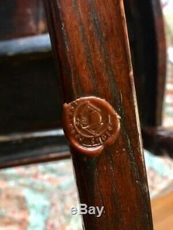 Restauré Rare Antique Chinois Importé Vanity Avec Tri Pli Miroir & Ornement Chaise