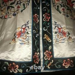 Robe Chinoise Vintage En Soie Brodée À La Main Robe Asiatique