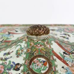 Rose Médaillon Antique Chinese Début Des Années 1800 Couvert 10 X Dish Servir 8-13 / 16