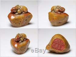 Sceau De Timbre De Pierre Chinoise Shoushan Furong 12pcs / Tianhuang 1.18kg