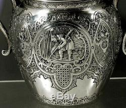 Service À Thé Écossais En Argent Sterling 1883 Marchands De Thé Chinois