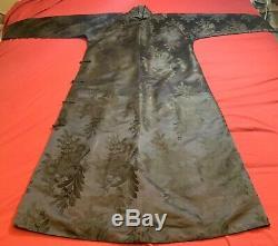 Soie Damassé Vintage Chinois Femme Robe Jupe Veste Brodée Antique # 6