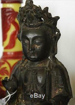Statue Chinoise En Bronze De La Dynastie Des Bouddha Ming