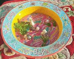 Straits Bol En Porcelaine Chinoise Antique Peranakan Singapour Baba Nyonya Tortue
