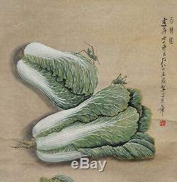 Superbe Chinoise Aquarelle Cent Trésor Hanging Rouleau De Peinture Qi Baishi