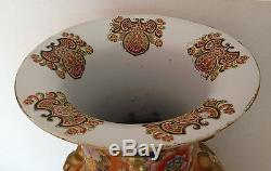 T 24 Antique Porcelaine Chinoise Famille Rose Medaillon Vase Étage Palais