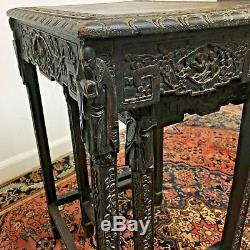 Tables Gigognes Chinoises Anciennes Sculptées