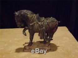 Tang Dynasty Chinese Cabré Sculpture De Chevaux Photos Dans Description