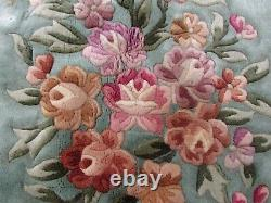 Tapis De Tapis De Laine Vert Oriental Oriental Art Déco