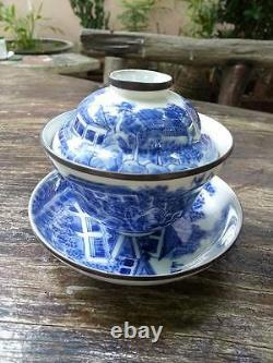 Tasse De Thé Kangxi En Porcelaine Chinoise Blue&white Teacup Avec Marqué
