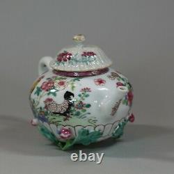 Théière Et Couverture Chinoise Antiques De Famille-rose, Yongzheng (1723-1735)