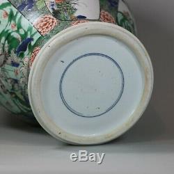 U804 Vase Chinois Famille Verte Balustre, Kangxi (1662-1722)