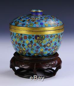 Un Chinois Antique Cloisonnée Lidded Bowl