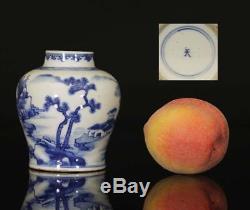 Un Vrai Paysage De Porcelaine Chinoise Bleu Et Blanc Vase 1700