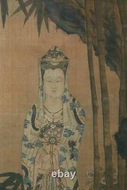 Une Énorme Et Importante Peinture Chinoise De La Dynastie Qing Encadrée Sur La Soie, Signée
