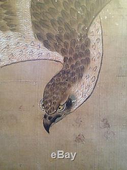Une Grande Et Importante Peinture Antique Chinoise Sur Soie, Signée, Encadrée