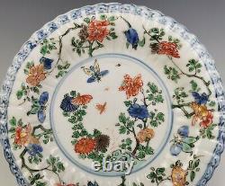 Une Plaque De Porcelaine Chinoise Antique Famille-verte Kangxi Période (18 C)