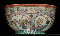 Une Très Rare Et Grande Du 19ème Siècle Porcelaine Chinoise Jardinière / Planteur