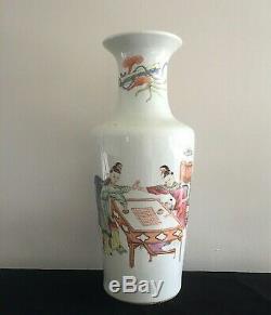 Vase Antique En Porcelaine De Chine Emaillé