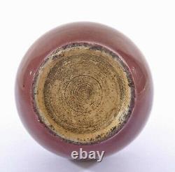 Vase Chinois En Porcelaine Flambe Ox Blood Des Années 1900 Sang Boeuf Langyao Style Vase En Porcelaine