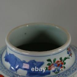 Vase De Baluster Wucai Chinois, Shunzi, (1644-1661)