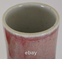 Vase En Porcelaine Chinoise Fourrure De Lièvre Rouge Sang De Boeuf Glaçure Qing Dynastie 36cm