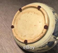 Vase En Porcelaine De Chine Bleu Et Blanc De La Dynastie Ming D'époque Wanli