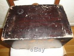 Vente! C1840 Export Chinois Vernis Noir Projeté Box 13x8x9