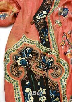 Veste De Costume Des Années 1900 En Soie Orange Orange Et Broderie Interdite Pour Femme